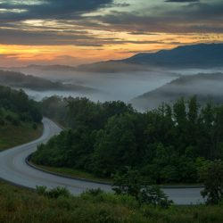 Foggy valley in Kentucky
