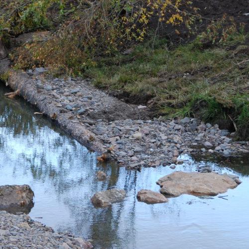 Rocks at water's edge